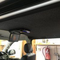 Alpine roof mount monitor vw t t6 audio upgrade new carpet